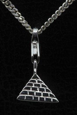 Zilveren Piramide Egypte hanger en/of bedel