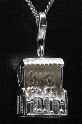 Zilveren Strandstoel - Korf 2 personen hanger én bedel
