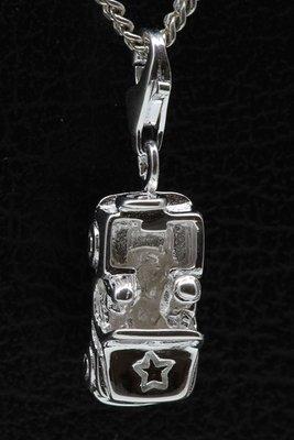 Zilveren Jeep hanger en/of bedel