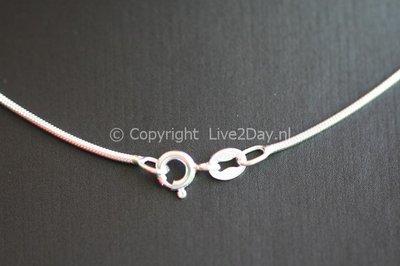 Zilveren ketting slang 3. middel - dikte 1,6 mm - 42/45/50 cm