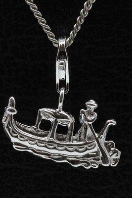 Zilveren Venetiaanse gondel hanger én bedel