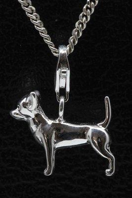 Zilveren Chihuahua hanger en/of bedel