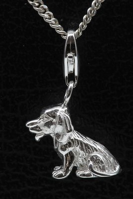 Zilveren Beagle hanger en/of bedel