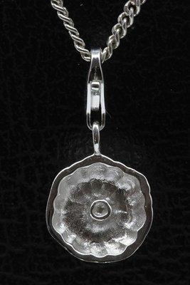 Zilveren Bakvorm hanger én bedel