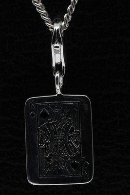 Zilveren Schoppenkoning hanger en/of bedel