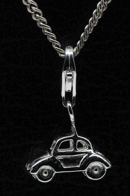 Zilveren Auto klein hanger én bedel