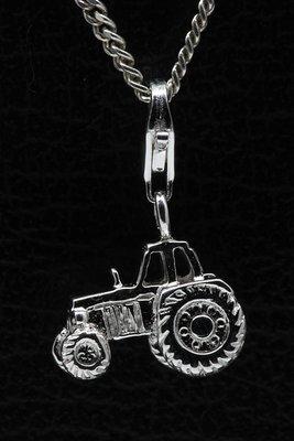 Zilveren Tractor Trekker hanger én bedel