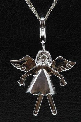 Zilveren Engel groot hanger én bedel