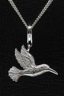 Zilveren Kolibri hanger én bedel