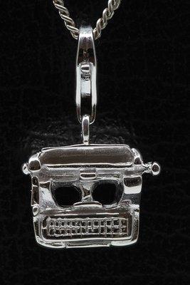 Zilveren Typemachine hanger én bedel