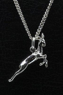 Zilveren Gazelle ketting hanger