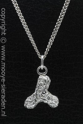 Zilveren Kattenbrok Brekkie ketting hanger