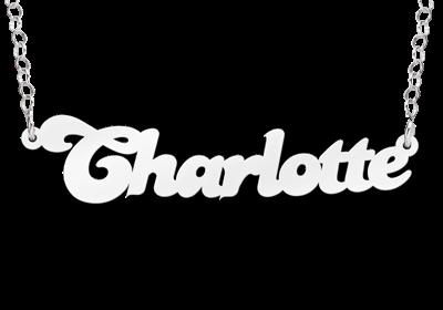 """Zilveren Naamketting """"Charlotte"""""""