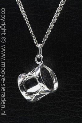Zilveren Dieptrom ketting hanger