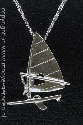 Zilveren Surfplank XL ketting hanger