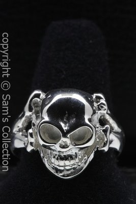 Zilveren Skull and bones ring