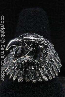 Zilveren Adelaars kop schuin ring