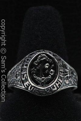 Zilveren Hollister 1% ring