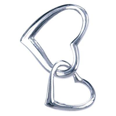 Zilveren Dubbelhart klein ketting hanger