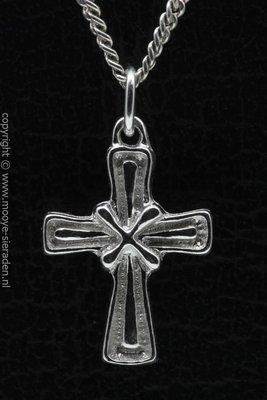Zilveren Kruis gekruist ketting hanger