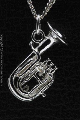 Zilveren Bariton ketting hanger
