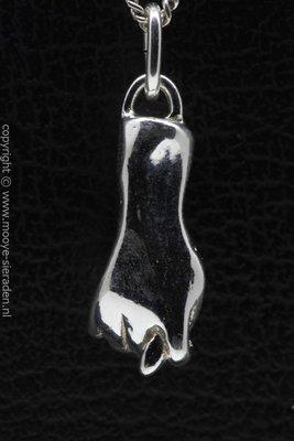 Zilveren Handteken seks ketting hanger