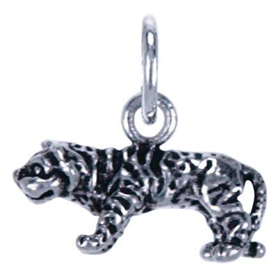 Zilveren Tijger klein ketting hanger