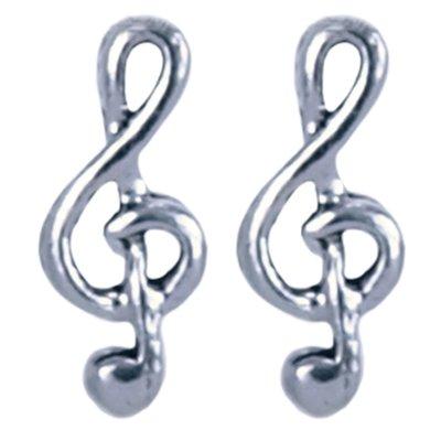 Zilveren Muzieksleutels oorstekers oorknoppen