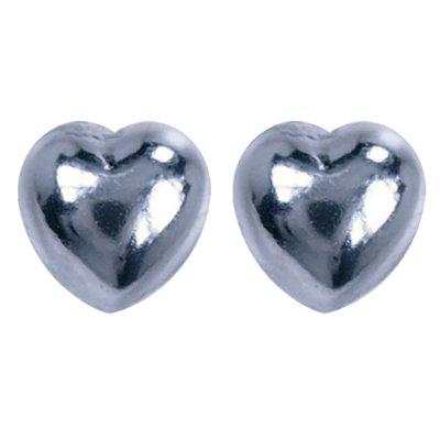Zilveren Hartjes oorstekers oorknoppen