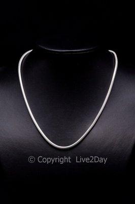 "Zilveren halsketting ""Slang"" - 50/60/80/90cm"