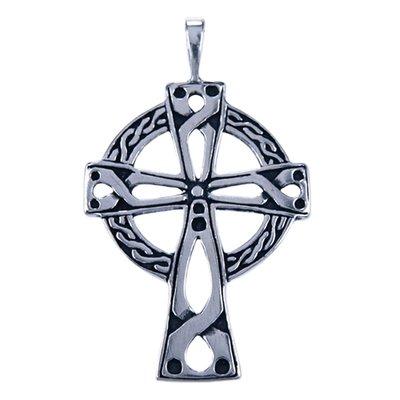Zilveren Keltisch kruis ketting hanger