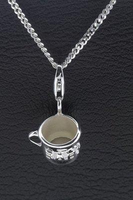 Zilveren Baby Peuter drinkbeker hanger én bedel