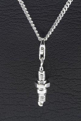 Zilveren Bougie hanger en bedel