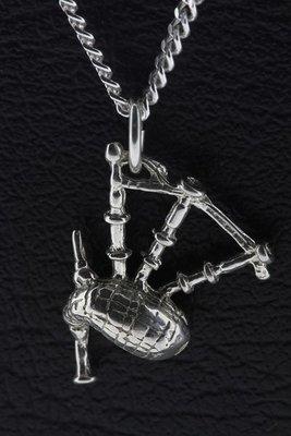 Zilveren Doedelzak ketting hanger