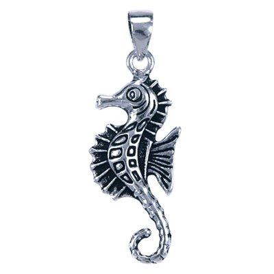 Zilveren Zeepaard ketting hanger