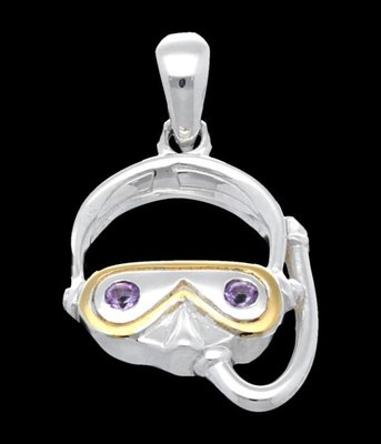 Zilveren Snorkelaar kettinghanger