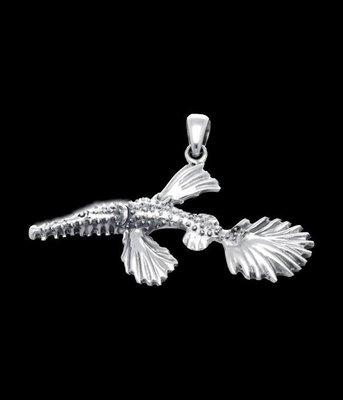 Zilveren Spookfluitvis  kettinghanger