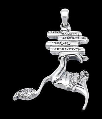 Zilveren Boekenwurm kettinghanger