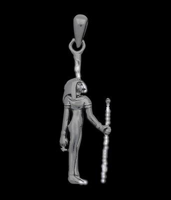Zilveren Egyptische Godin Maät kettinghanger