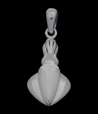 Zilveren Pijlinktvis met schelp kettinghanger