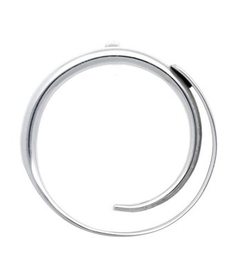 Zilveren Design Krul groot kettinghanger