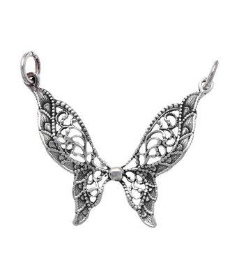Zilveren Vlinder filigrain kettinghanger