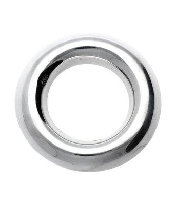 Zilveren Ring bol rond kettinghanger