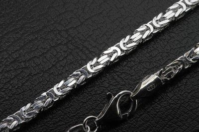 Zilveren Konings ketting - extra zwaar 60 cm