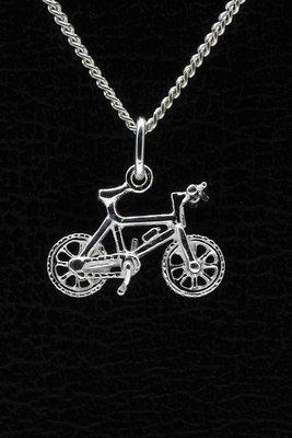 Zilveren Mountainbike oorhangerset