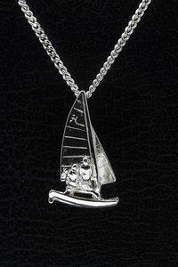 Zilveren Catamaran ketting hanger