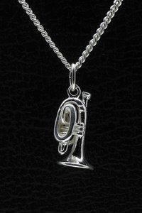 Zilveren Cornet ketting hanger