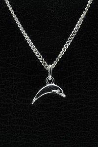 Zilveren Dolfijn ketting hanger - klein