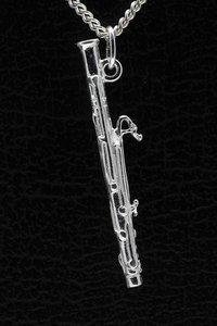 Zilveren Fagot ketting hanger