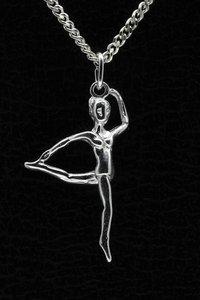 Zilveren Gymnaste ketting hanger